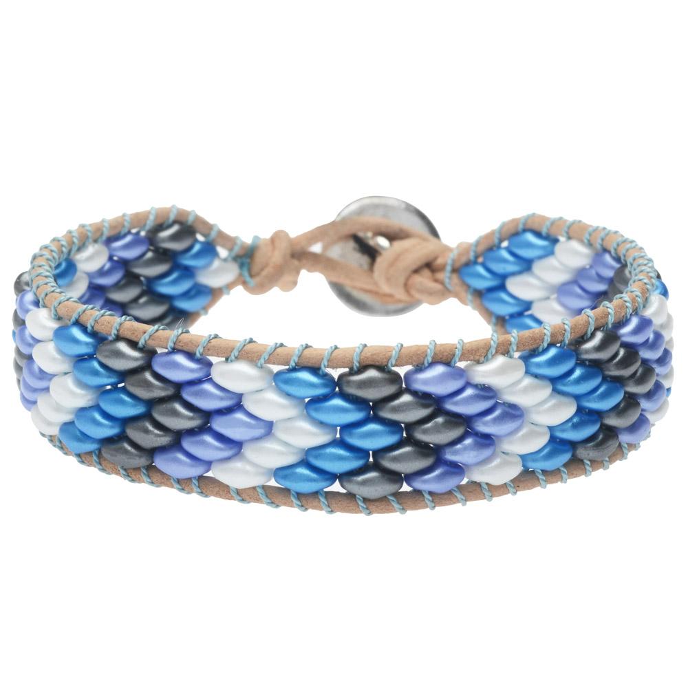 SuperDuo Wrapit Loom Bracelet in Little Boy Blue - Exclusive Beadaholique Jewelry Kit