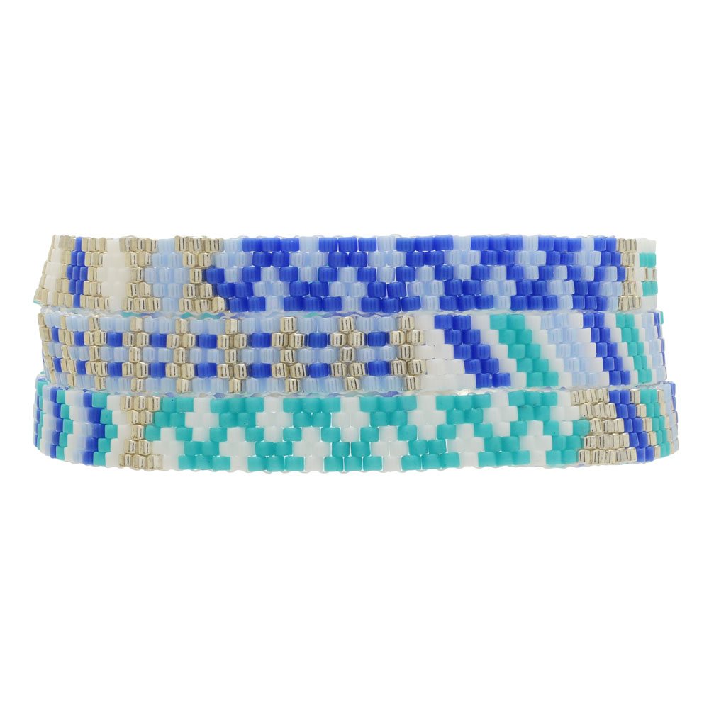 Triple Wrap Odd Count Peyote Bracelet in Azure - Exclusive Beadaholique Jewelry Kit