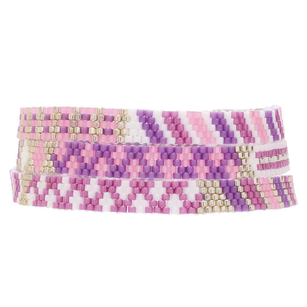 Triple Wrap Odd Count Peyote Bracelet in Rose - Exclusive Beadaholique Jewelry Kit
