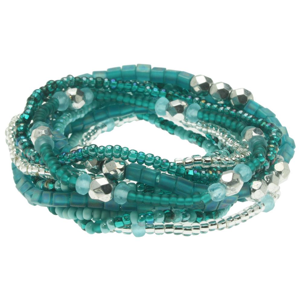 Serendipity Stretch Bracelet Kit in Turquoise, 12 Bracelets - Exclusive Beadaholique Jewelry Kit