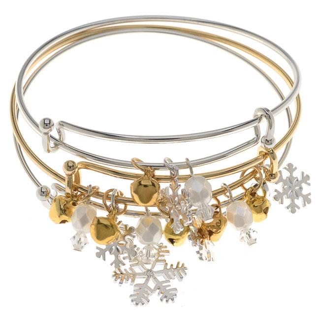 Winter Wonderland Bangle Bracelet Set - Exclusive Beadaholique Jewelry Kit
