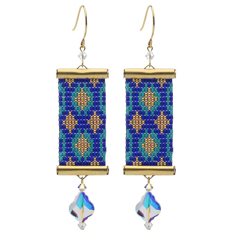 Loom Statement Earrings in Ibiza - Exclusive Beadaholique Jewelry Kit