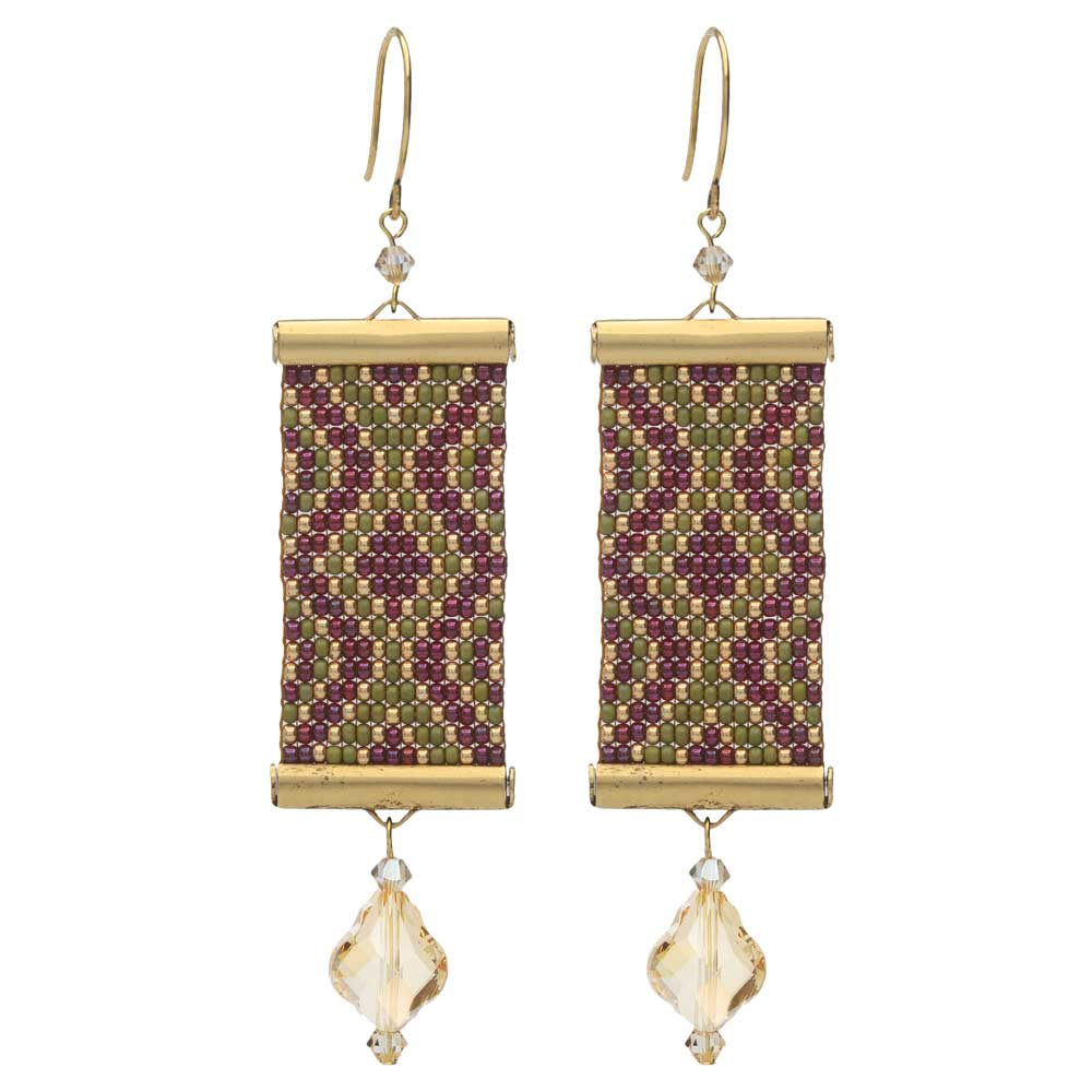 Loom Statement Earrings in Tuscany - Exclusive Beadaholique Jewelry Kit