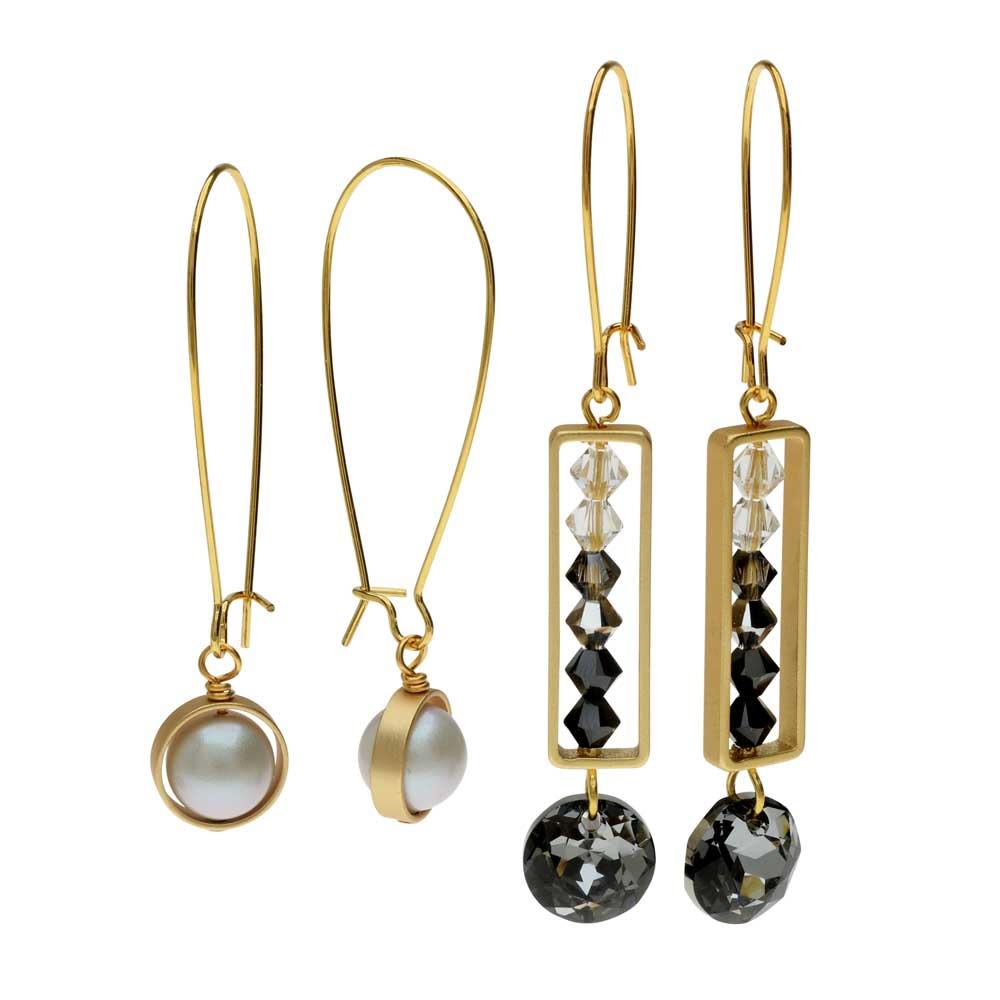 Elegant Bead Frame Earring Duo in Evening Affair - Exclusive Beadaholique Jewelry Kit
