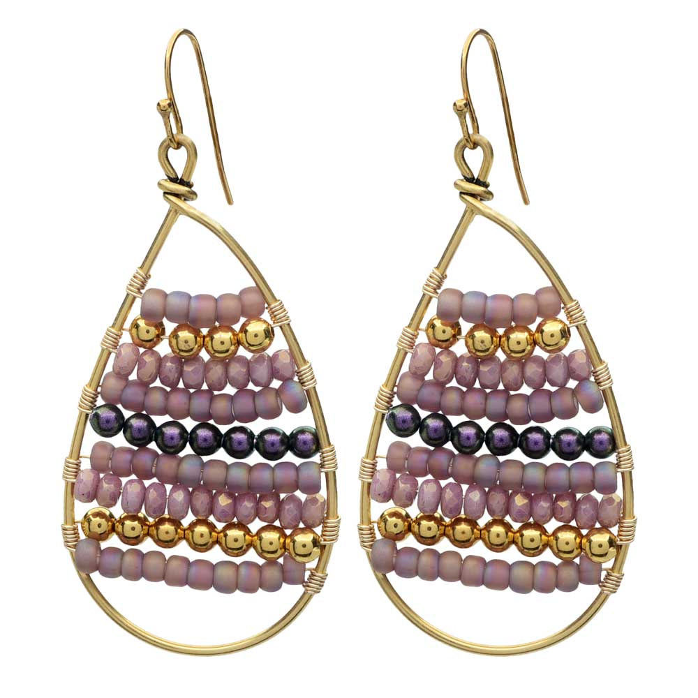 Calypso Wire Wrapped Earrings in Plum - Exclusive Beadaholique Jewelry Kit