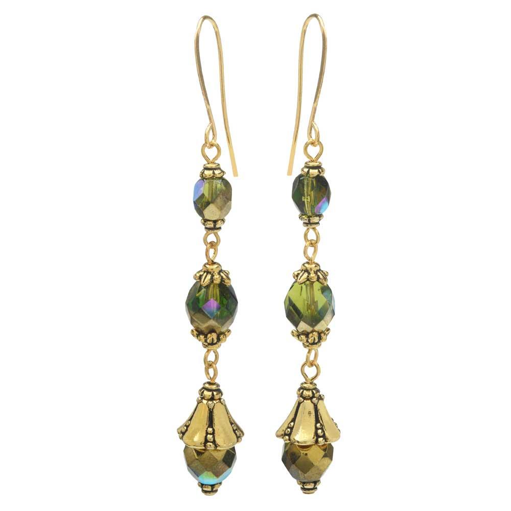 Nova Earrings in Olive - Exclusive Beadaholique Jewelry Kit