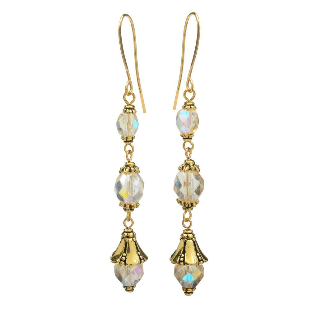Nova Earrings in Gilded Rainbow - Exclusive Beadaholique Jewelry Kit