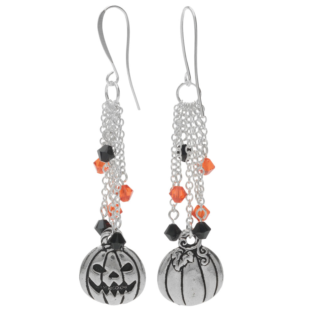 Halloween Earrings - Jack-O-Lantern - Exclusive Beadaholique Jewelry Kit