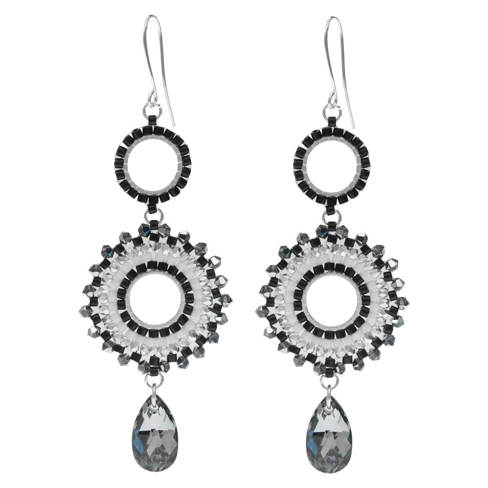 Beaded Statement Earrings feat. Swarovski Crystals -New Years Eve-Exclusive Beadaholique Jewelry Kit