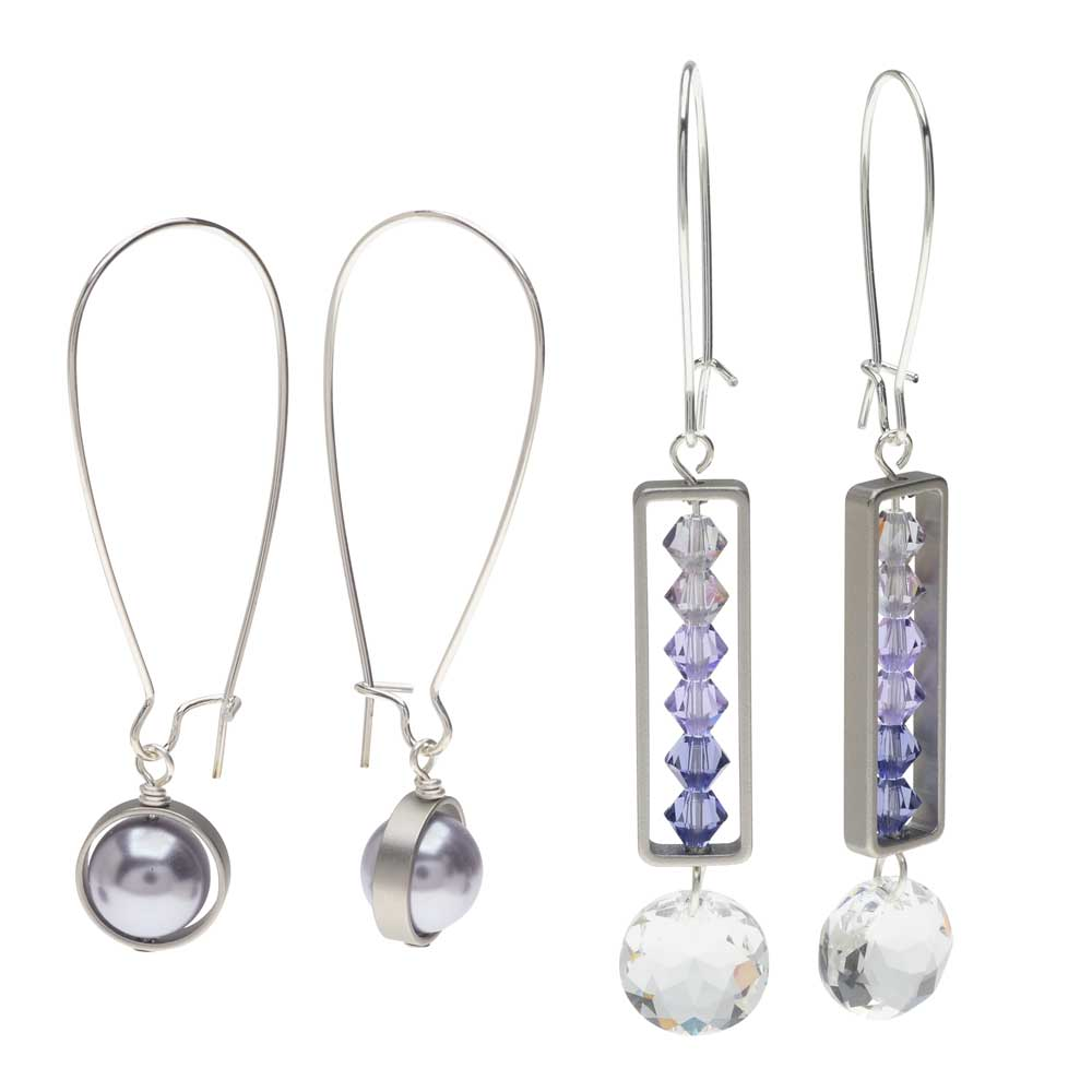 Elegant Bead Frame Earring Duo in Soft Violet - Exclusive Beadaholique Jewelry Kit