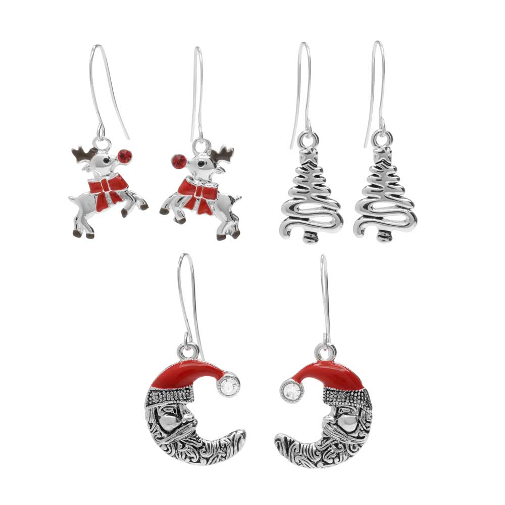 North Pole Earring Trio - Exclusive Beadaholique Jewelry Kit