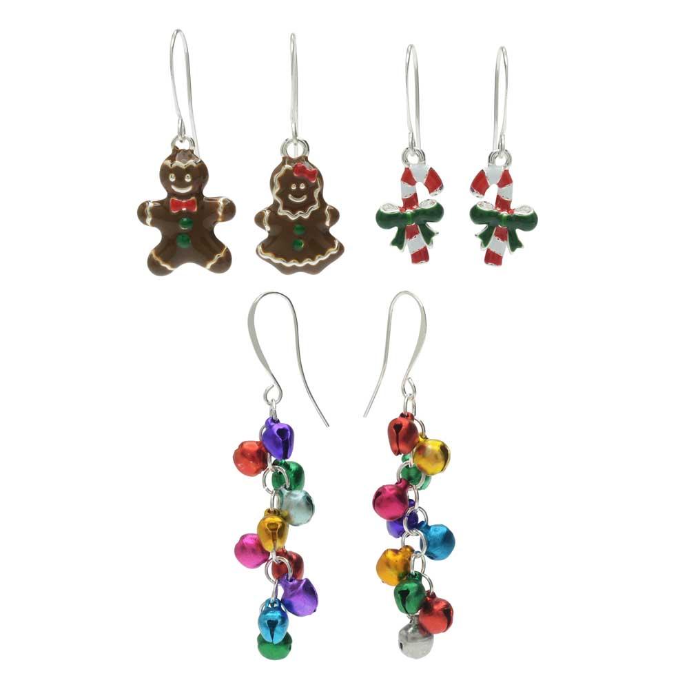 Candy Cane Lane Earring Trio - Exclusive Beadaholique Jewelry Kit