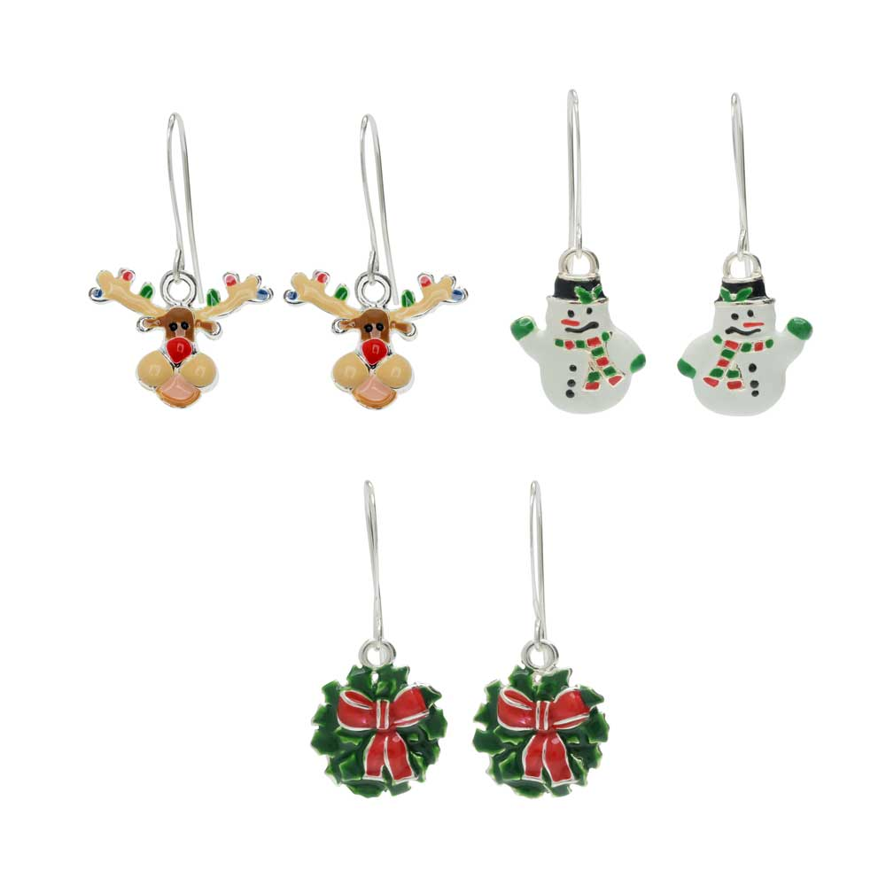 Holly Jolly Christmas Earring Trio - Exclusive Beadaholique Jewelry Kit