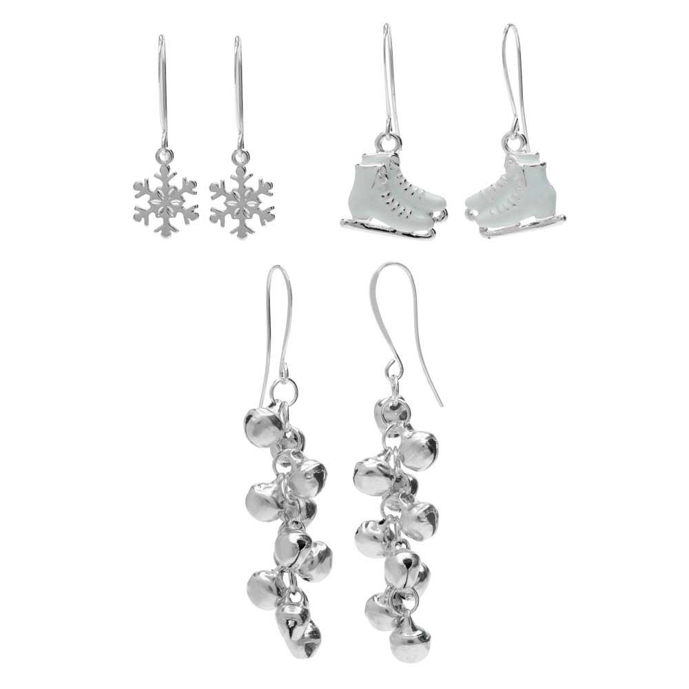 Silver Bells Earring Trio - Exclusive Beadaholique Jewelry Kit