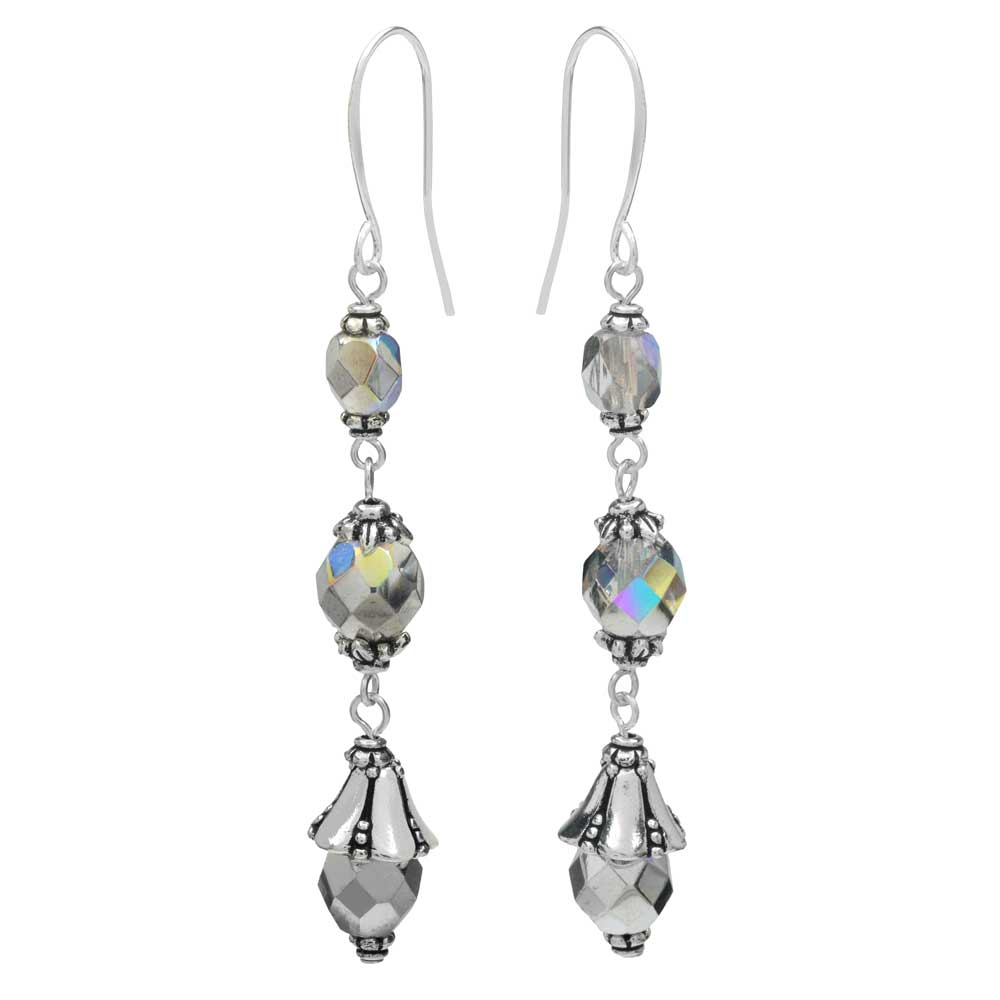 Nova Earrings in Silver Rainbow - Exclusive Beadaholique Jewelry Kit