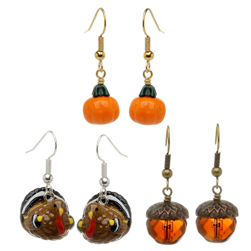 Autumn Fun Earring Set - Exclusive Beadaholique Jewelry Kit