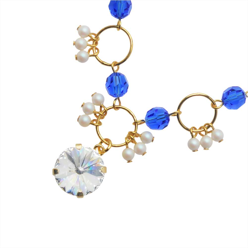 The Hamptons Necklace featuring Swarovski Crystals in Crystal - Exclusive Beadaholique Jewelry Kit