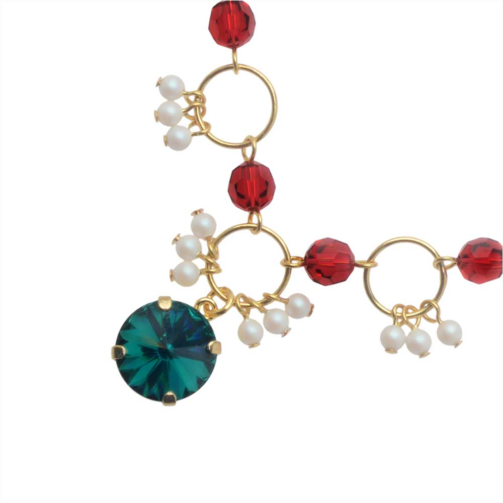 Final Sale - The Hamptons Necklace featuring Swarovski Crystals in Emerald - Exclusive Beadaholique Jewelry Kit