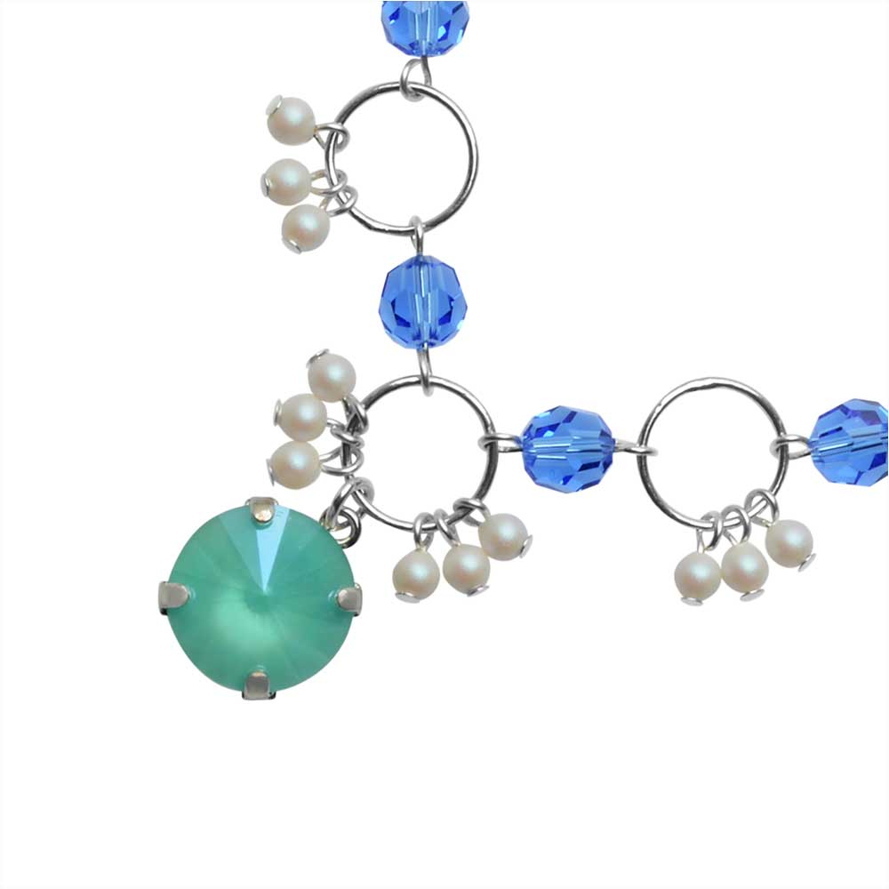 The Hamptons Necklace featuring Swarovski Crystals in Mint - Exclusive Beadaholique Jewelry Kit