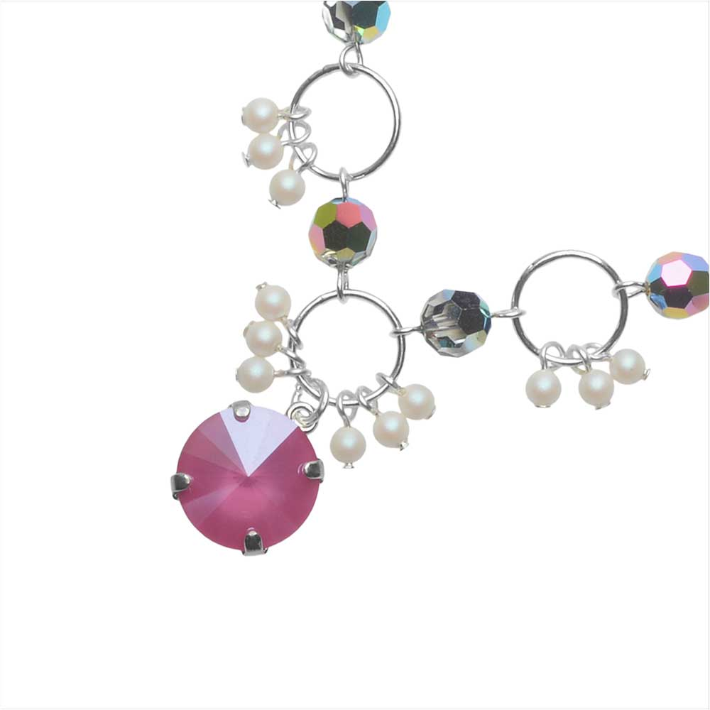 The Hamptons Necklace featuring Swarovski Crystals in Peony - Exclusive Beadaholique Jewelry Kit