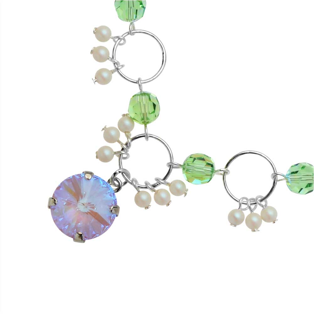 The Hamptons Necklace featuring Swarovski Crystals in Lavender - Exclusive Beadaholique Jewelry Kit