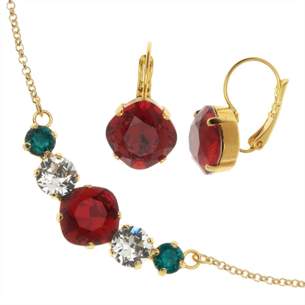 Modern Elegance Jewelry Set with Swarovski Crystals-Holiday Party-Exclusive Beadaholique Jewelry Kit