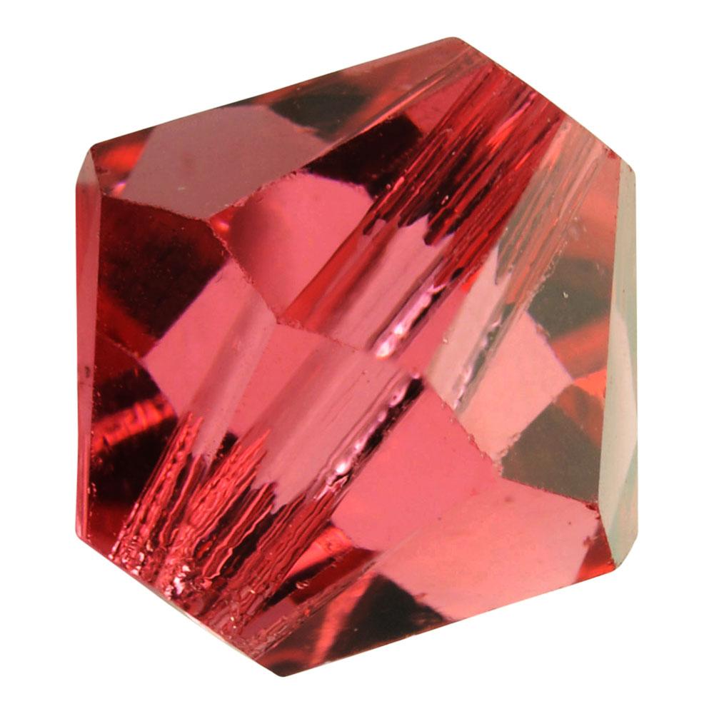 Preciosa Czech Crystal, Bicone Bead 10mm, 12 Pieces, Pink Candy