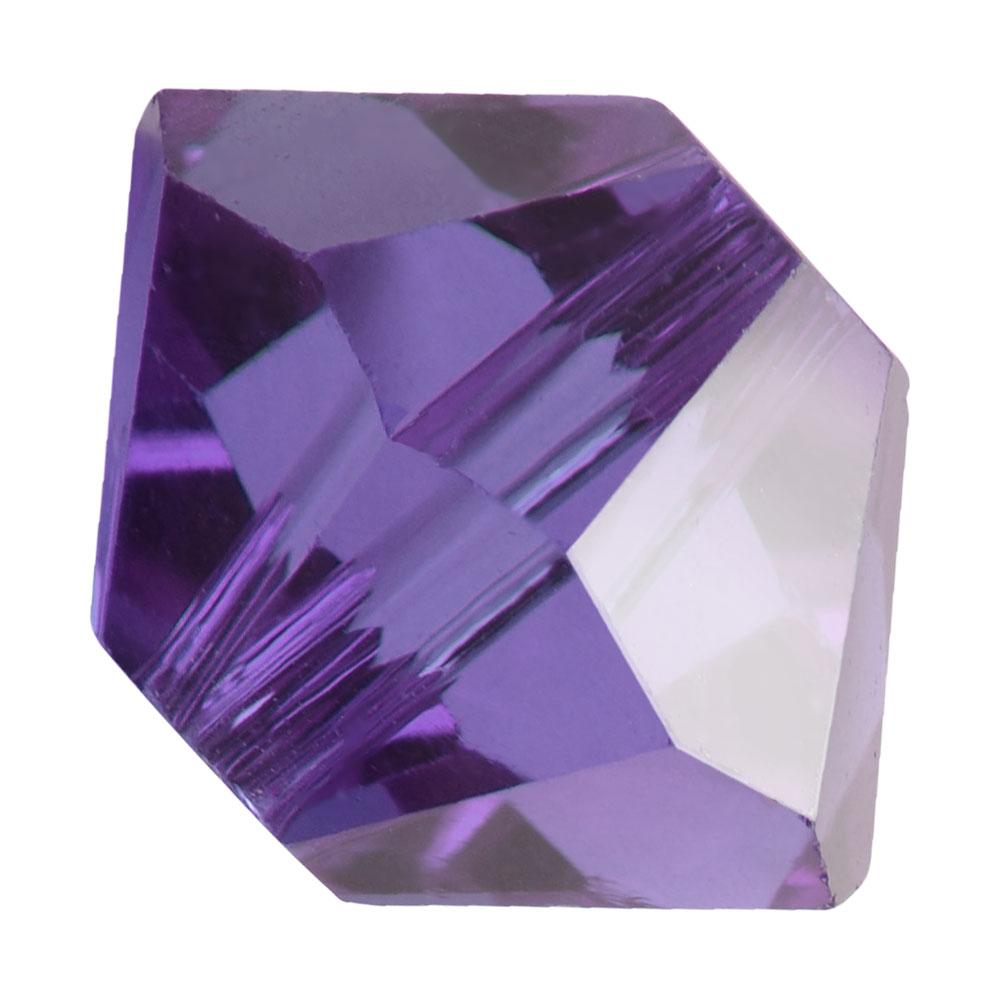 Preciosa Czech Crystal, Bicone Bead 3mm, 36 Pieces, Tanzanite