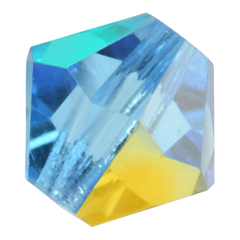 Preciosa Czech Crystal, Bicone Bead 4mm, 36 Pieces, Aquamarine AB
