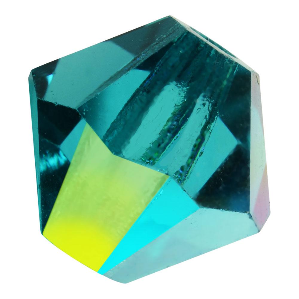 Preciosa Czech Crystal, Bicone Bead 4mm, 36 Pieces, Blue Zircon AB