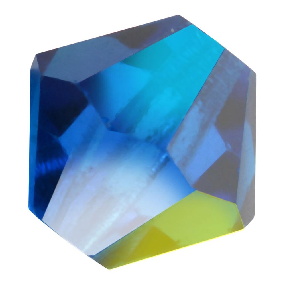 Preciosa Czech Crystal, Bicone Bead 4mm, 36 Pieces, Capri Blue AB