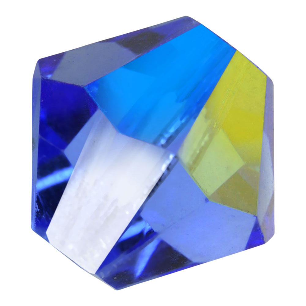 Preciosa Czech Crystal, Bicone Bead 4mm, 36 Pieces, Sapphire AB