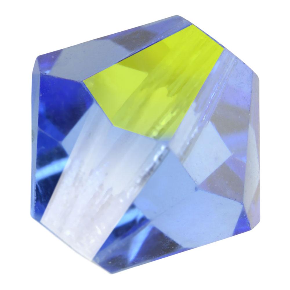 Preciosa Czech Crystal, Bicone Bead 4mm, 36 Pieces, Light Sapphire AB