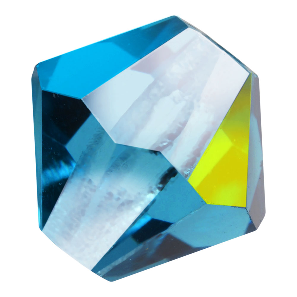 Preciosa Czech Crystal, Bicone Bead 4mm, 36 Pieces, Indicolite AB