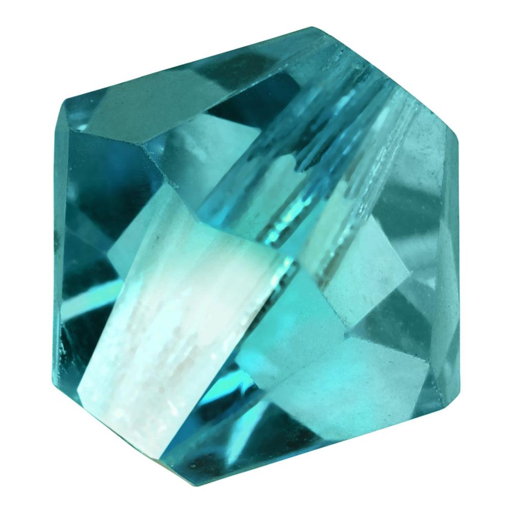 Preciosa Czech Crystal, Bicone Bead 8mm, 12 Pieces, Blue Zircon