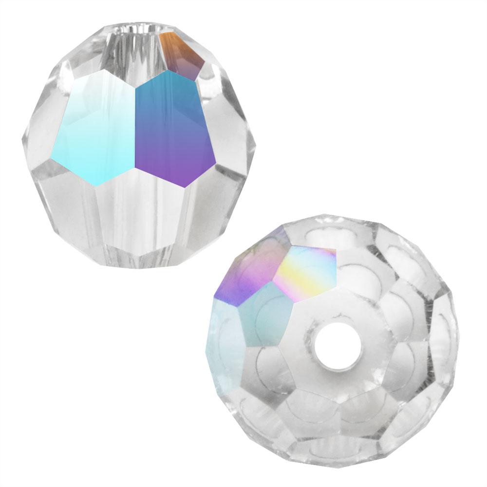 Preciosa Czech Crystal, Round Bead 6mm, 24 Pieces, Crystal AB