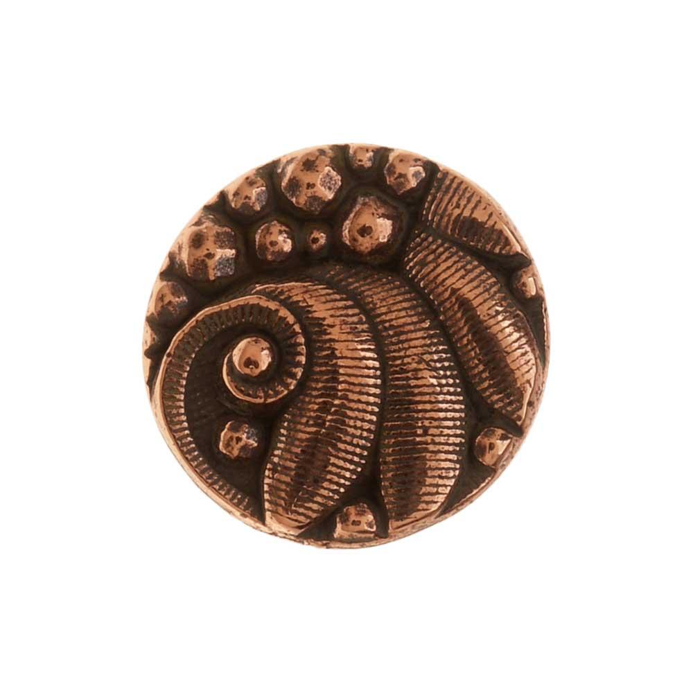 TierraCast Pewter Button, Round Czech Design, 12mm Diameter, 1 Piece, Antiqued Copper Plated