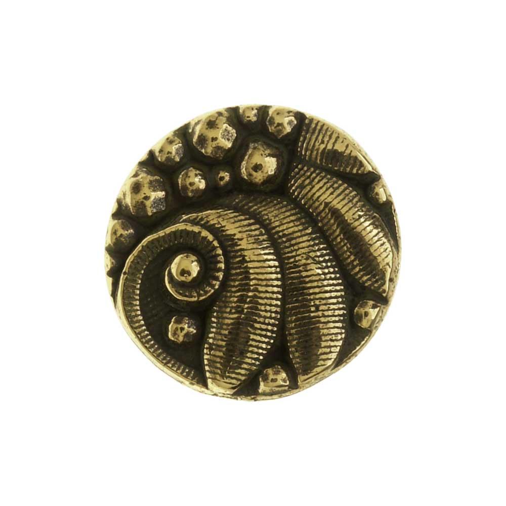 TierraCast Pewter Button, Round Czech Design, 12mm Diameter, 1 Piece, Brass Oxide