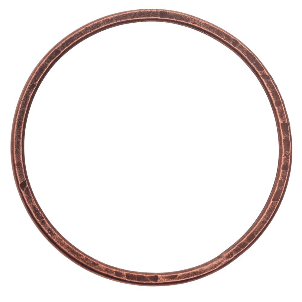Open Frame Pendant, Flat Round Hoop 50.5mm, Antiqued Copper, 1 Piece, by Nunn Design