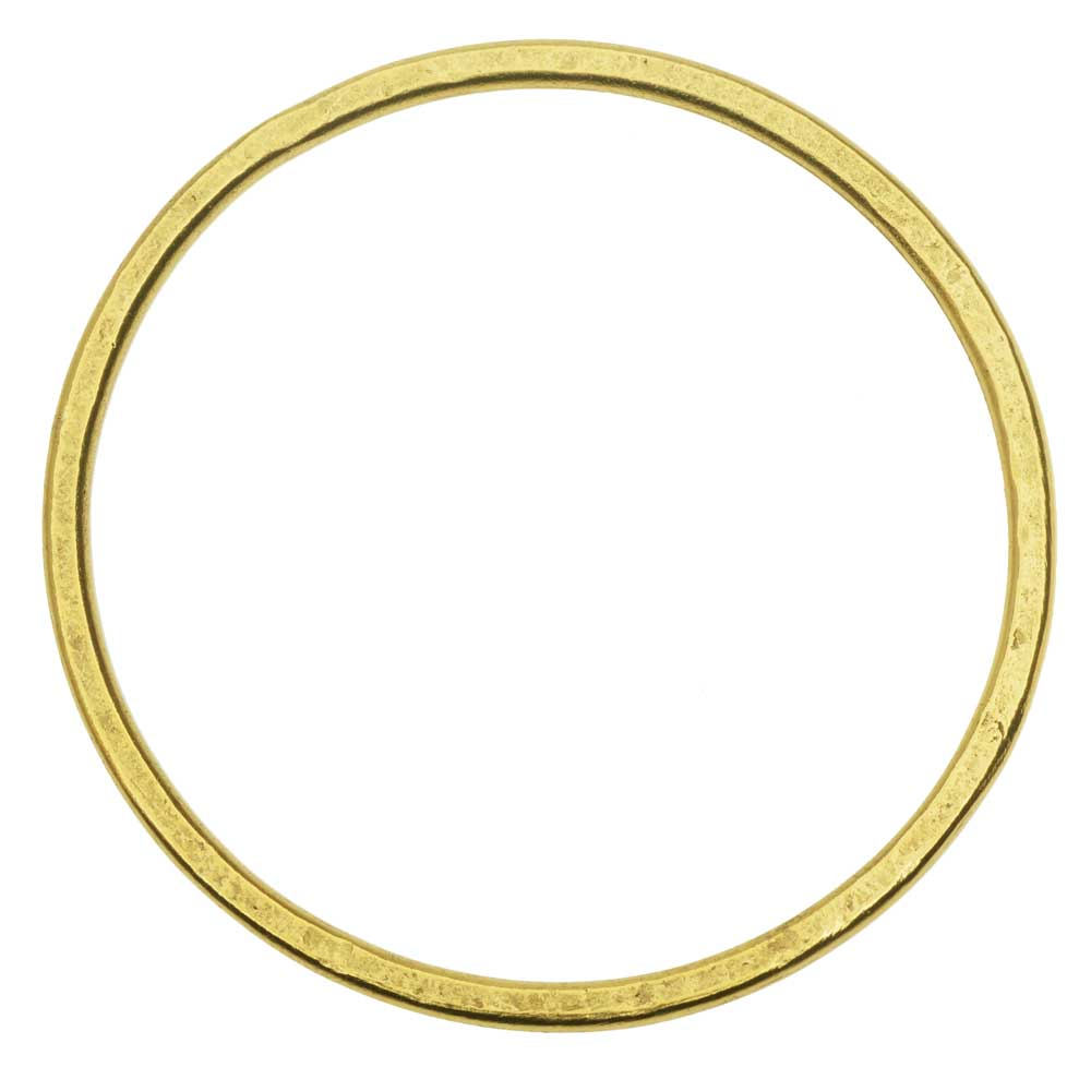 Open Frame Pendant, Flat Round Hoop 50.5mm, Antiqued Gold, 1 Piece, by Nunn Design