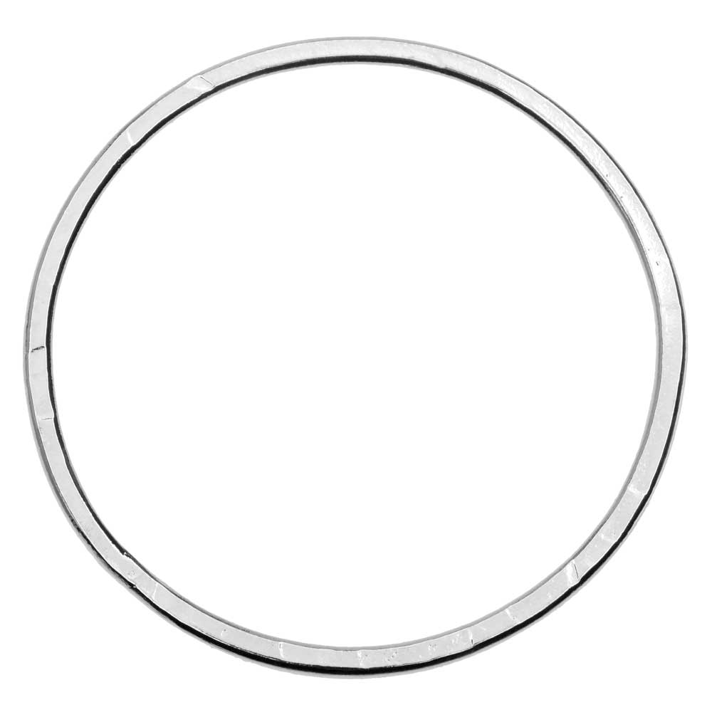 Open Frame Pendant, Flat Round Hoop 50.5mm, Bright Silver, 1 Piece, by Nunn Design