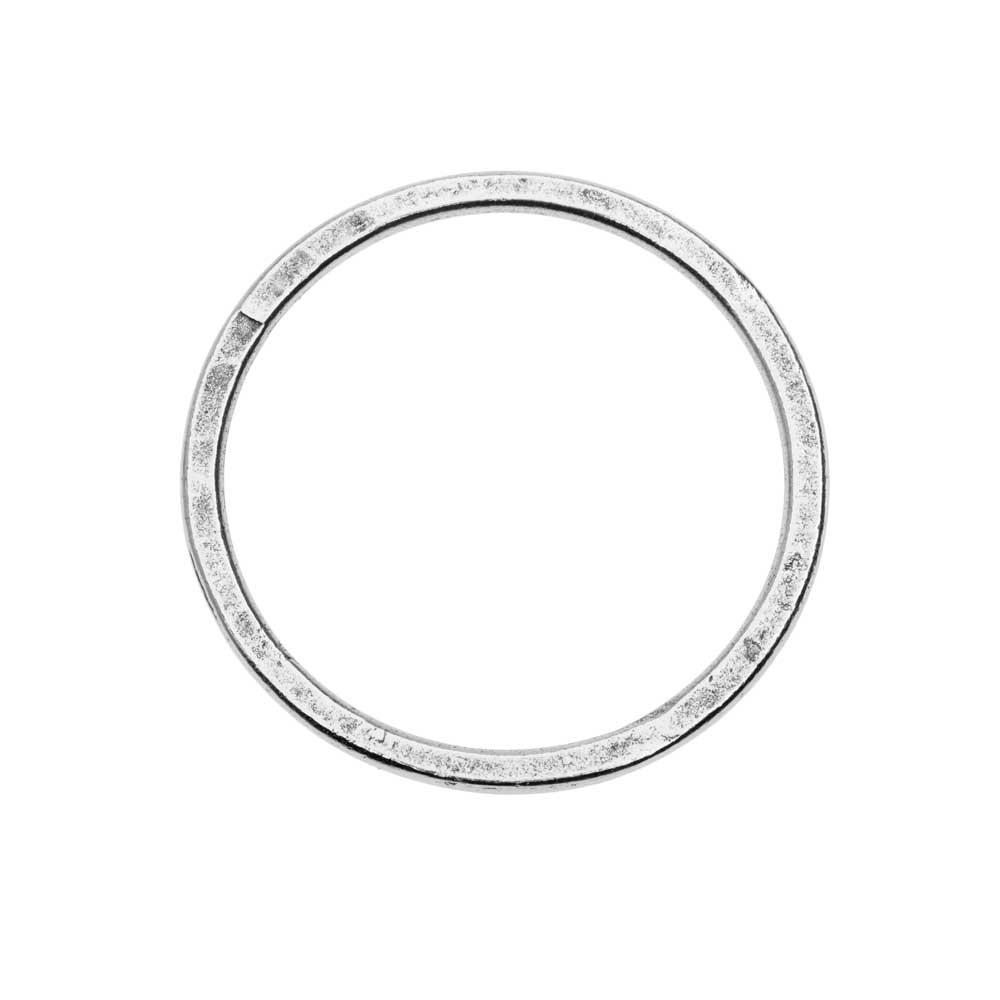 Open Frame Pendant, Flat Round Hoop 34.5mm, Antiqued Silver, 1 Piece, by Nunn Design