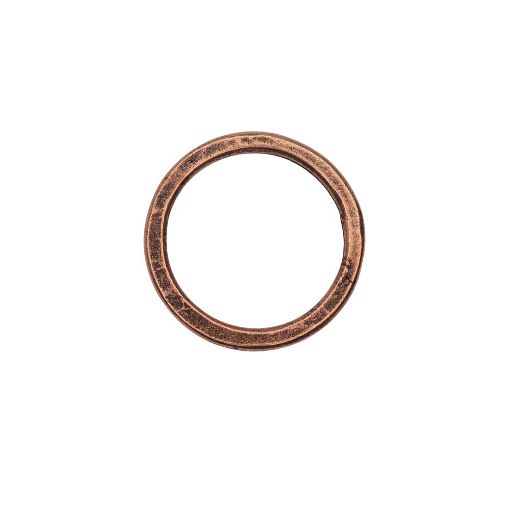 Open Frame Pendant, Flat Round Hoop 23.5mm, Antiqued Copper, 1 Piece, by Nunn Design