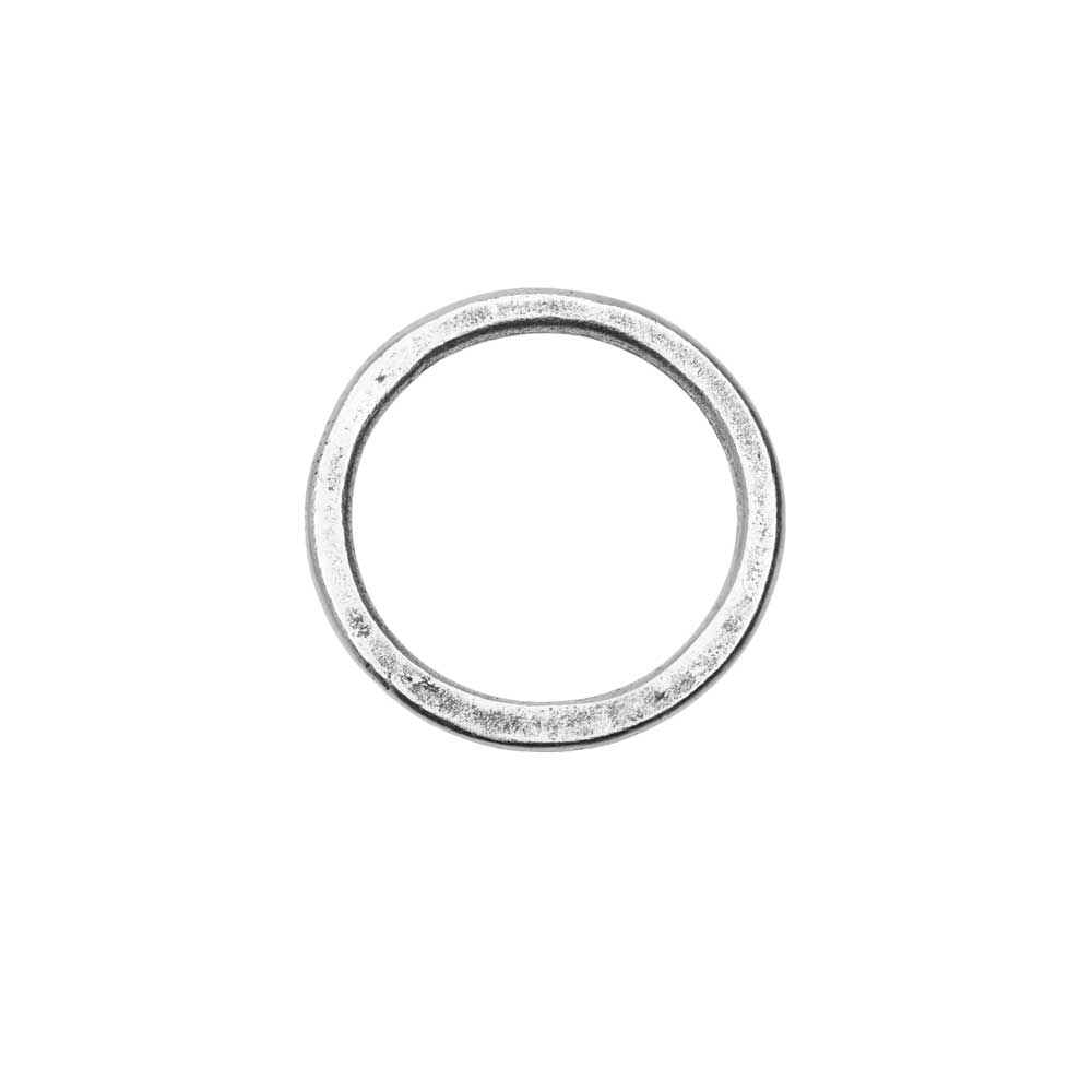 Open Frame Pendant, Flat Round Hoop 23.5mm, Antiqued Silver, 1 Piece, by Nunn Design