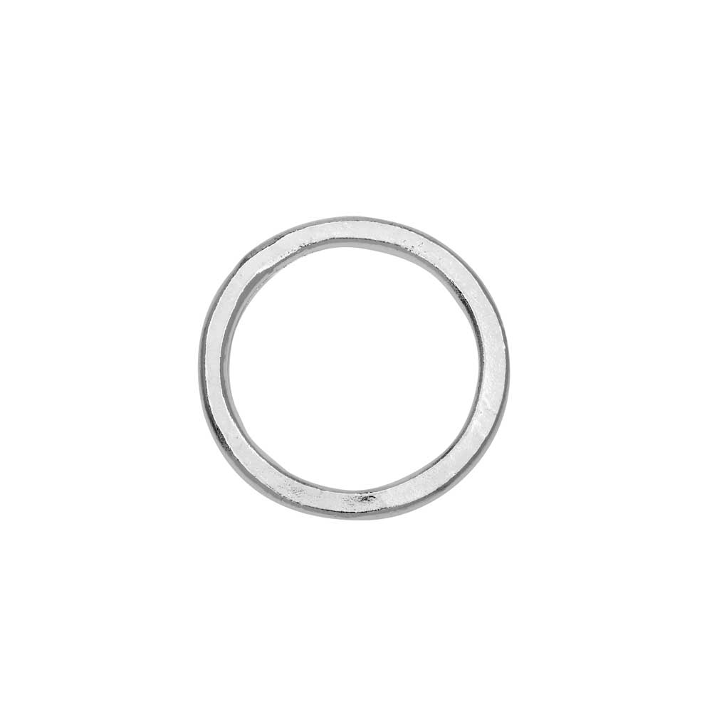 Open Frame Pendant, Flat Round Hoop 23.5mm, Bright Silver, 1 Piece, by Nunn Design