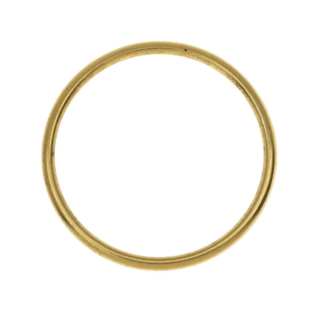 Nunn Design Open Frame, Hoop 34.5mm, 1 Piece, Antiqued Gold