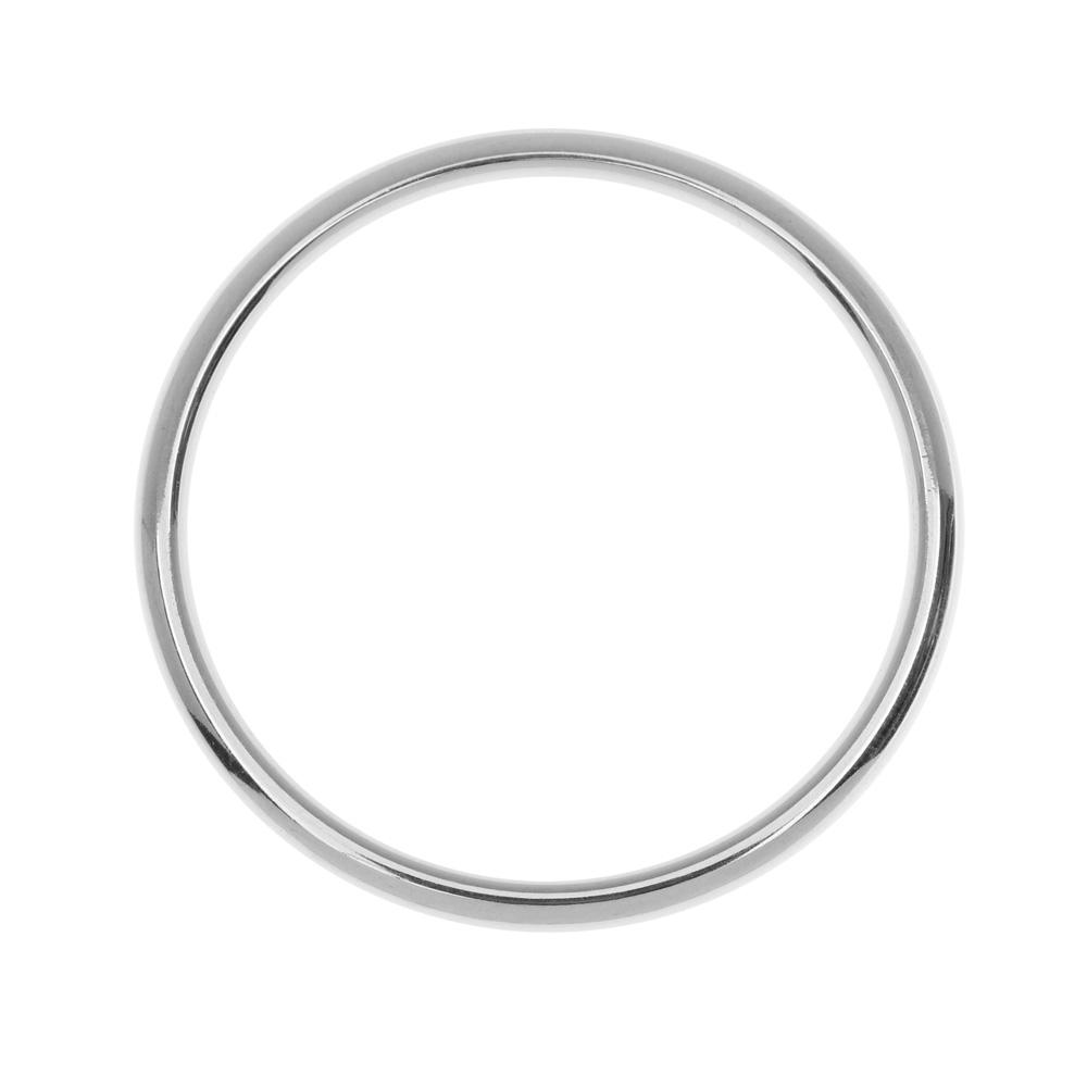 Nunn Design Open Frame, Hoop 34.5mm, 1 Piece, Bright Silver