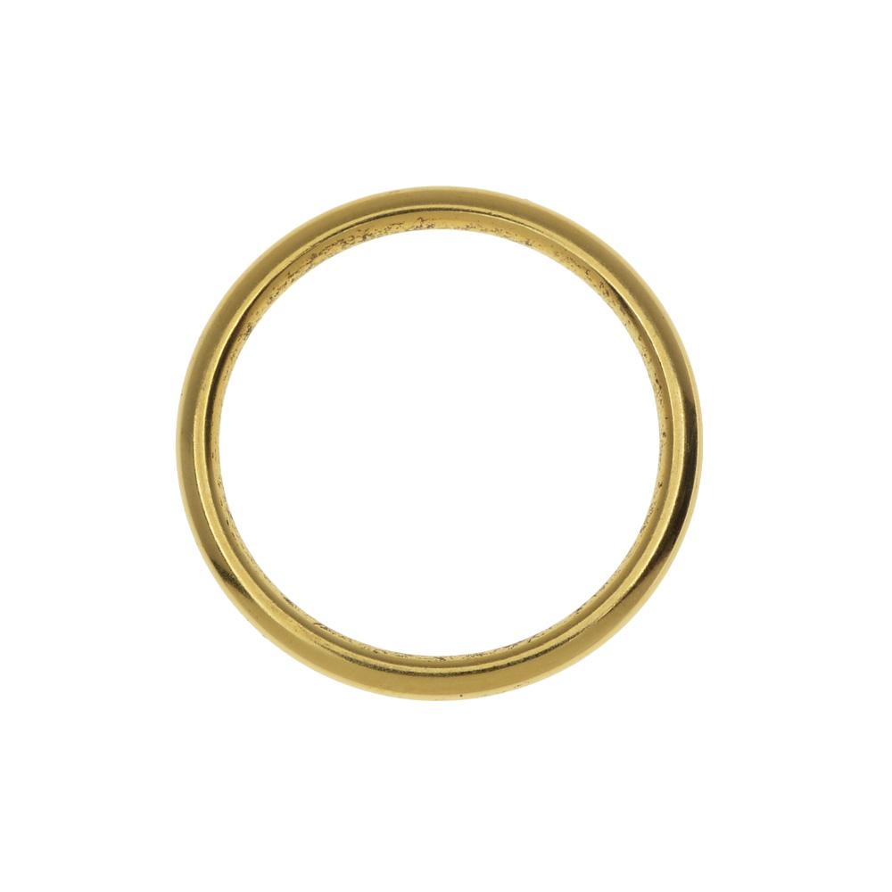 Nunn Design Open Frame, Hoop 24.5mm, 1 Piece, Antiqued Gold