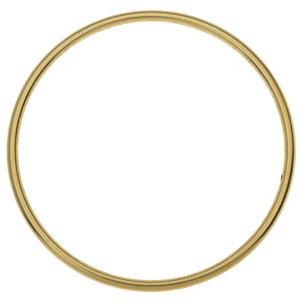 Nunn Design Open Frame, Hoop 49.5mm, 1 Piece, Antiqued Gold