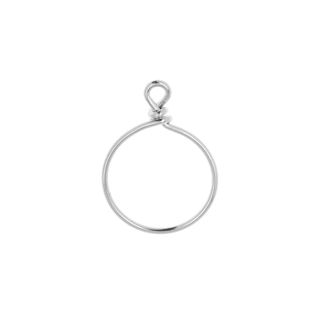 TierraCast Beadable Wrapped Wire Hoop, for Pendants or Earrings 20mm Wide,  Antiqued Silver Plated